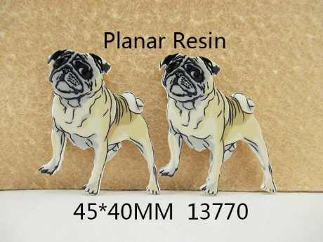 5 x 40MM DOG BULLDOG LASER CUT FLAT BACK HEADBANDS BOWS CARD MAKING PLAQUES